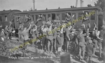 Leiston Railway Station Photo. Saxmundham - Aldeburgh. Great Eastern Railway. (12)