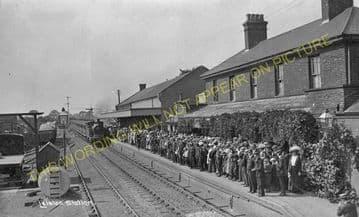 Leiston Railway Station Photo. Saxmundham - Aldeburgh. Great Eastern Railway. (13)