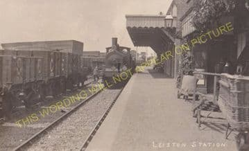 Leiston Railway Station Photo. Saxmundham - Aldeburgh. Great Eastern Railway. (15)