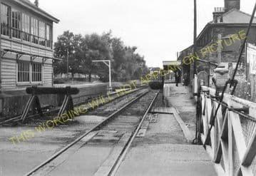 Leiston Railway Station Photo. Saxmundham - Aldeburgh. Great Eastern Railway. (16)