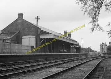 Leiston Railway Station Photo. Saxmundham - Aldeburgh. Great Eastern Railway. (4)