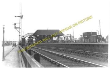 Leuchars Junction Railway Station Photo. Dundee to Guard Bridge & Dairsie. (1)
