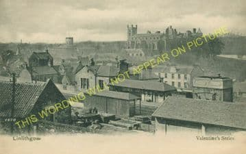 Linlithgow Railway Station Photo. Manuel - Philiptoun. Falkirk to Edinburgh. (2).