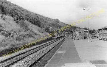 Llanbrynmair Railway Station Photo. Talerddig - Cemmes Road. (8).