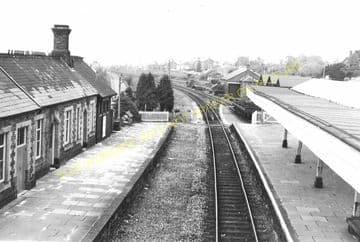 Llandrindod Wells Railway Station Postcard. Builth Wells - Penybont. L&NWR. (8)