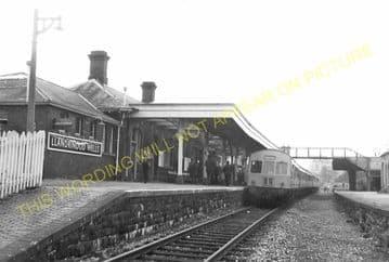 Llandrindod Wells Railway Station Postcard. Builth Wells - Penybont. L&NWR. (9).