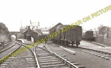 Llanerchymedd Railway Station Photo. Holland Arms - Amlwch. Anglesey. L&NWR. (1)
