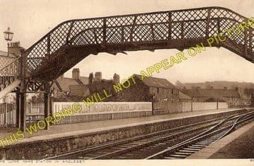 Llanfair Railway Station Photo. Menai Bridge - Gaerwen. Bangor to Holyhead. (1)