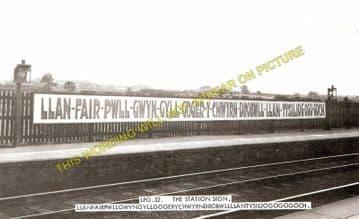 Llanfair Railway Station Photo. Menai Bridge - Gaerwen. Bangor to Holyhead. (4)