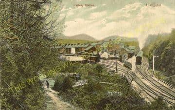 Llangefni Railway Station Photo. Holland Arms - Llangwyllog. Amlwch Line. (5)