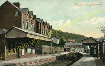 Llangollen Railway Station Photo. Berwyn - Trevor. Corwen to Wrexham Line. (17)