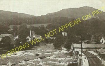Llangollen Railway Station Photo. Berwyn - Trevor. Corwen to Wrexham Line. (19)