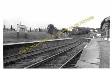 Llangwyllog Railway Station Photo. Llangefni - Llanerchymedd. Amlwch Line. (1)