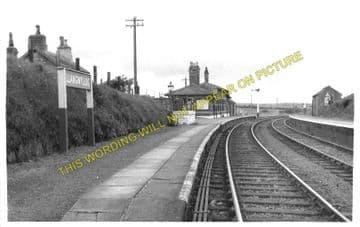 Llangwyllog Railway Station Photo. Llangefni - Llanerchymedd. Amlwch Line. (2)