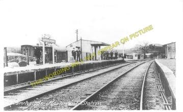 Llanrhaiadr Mochant Railway Station Photo. Pentrefelin - Llangynog. Tanat. (1)..