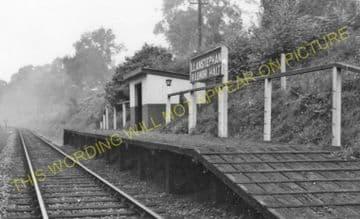 Llanstephan Railway Station Photo. Erwood - Boughrood & LLyswen. (1).
