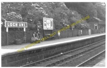 Loch Awe Railway Station Photo. Dalmally- Taynuillt. Tyndrum to Connel Ferry (6)