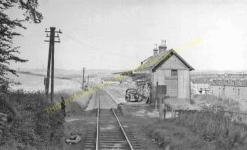 Lochee West Railway Station Photo. Liff - Baldovan. Dundee to Baldragon Line (3)