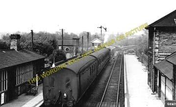 Long Melford Railway Station Photo. Sudbury to Glemsford and Lavenham Lines. (1)..