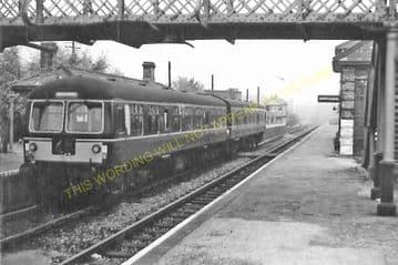 Long Melford Railway Station Photo. Sudbury to Glemsford and Lavenham Lines. (10)