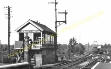 Long Melford Railway Station Photo. Sudbury to Glemsford and Lavenham Lines. (11)