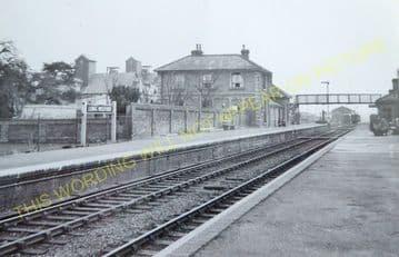 Long Melford Railway Station Photo. Sudbury to Glemsford and Lavenham Lines. (12)
