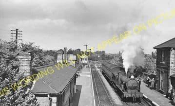 Long Melford Railway Station Photo. Sudbury to Glemsford and Lavenham Lines. (16)