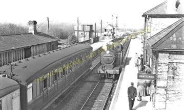 Long Melford Railway Station Photo. Sudbury to Glemsford and Lavenham Lines. (3)