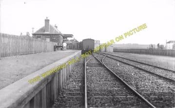 Lybster Railway Station Photo. Ulbster and Wick Line. Highland Railway. (1)..