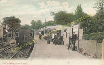 Lyme Regis Railway Station Photo. Combpyne and Axminster Line. L&SWR (22)