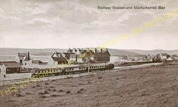 Machrihanish Railway Station Photo. Campbeltown & Machrihanish Railway. (1)..