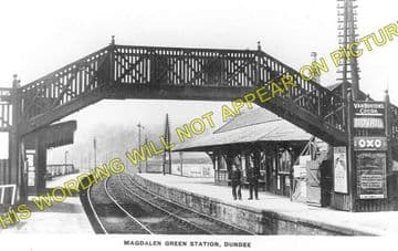 Magdalen Green Railway Station Photo. Dundee - Invergowrie. Caledonian. (1)
