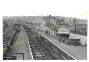 Manton Railway Station Photo. Oakham to Luffenham and Harringworth Lines. (5)