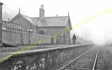 Marchmont Railway Station Photo. Greenlaw - Duns. St. Boswells to Reston. (1).