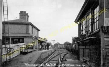 Marlesford Railway Station Photo. Wickham Market - Parham. Framlingham Line. (6)