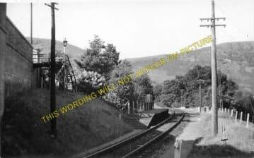 Marteg Railway Station Photo. Rhayader - St. Harmons. Builth to Llanidloes. (1)