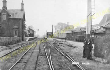 Mellis Railway Station Photo. Finningham to Diss and Eye Lines. (16)