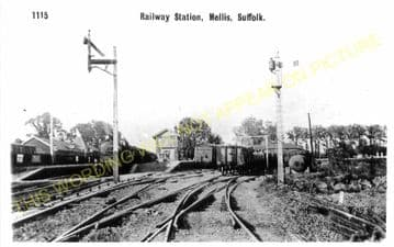 Mellis Railway Station Photo. Finningham to Diss and Eye Lines. (8)