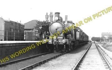 Mildenhall Railway Station Photo. Isleham and Fordham Line. Great Eastern. (1)..