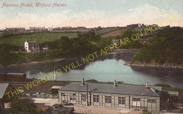 Milford Haven Railway Station Photo. Johnston and Haverfordwest Line. GWR. (11)
