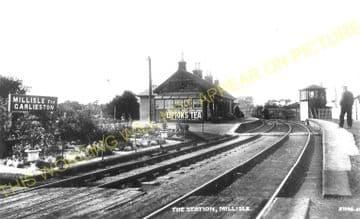 Millisle Railway Station Photo. Newton Stewart to Garlieston and Whithorn. (1)..