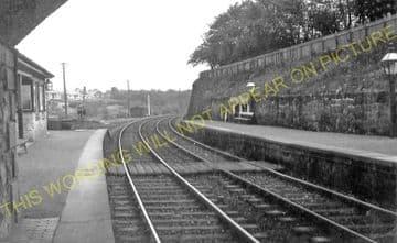 Milton of Campsie Railway Station Photo. Kirkintilloch - Lennoxtown. NBR. (1)