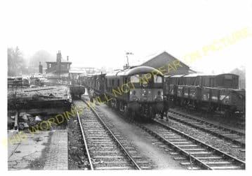 Mold Railway Station Photo. Rhydymwyn to Coed Talon and Llong Lines. L&NWR. (4)