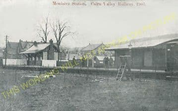 Moniaive Railway Station Photo. Kirkland, Dunscore and Dumfries Line. G&SWR (6)