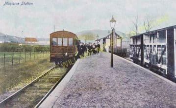 Moniaive Railway Station Photo. Kirkland, Dunscore and Dumfries Line. G&SWR (7)