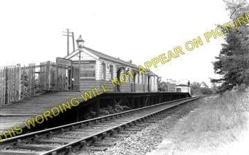 Morcott Railway Station Photo. Luffenham - Seaton. Market Harborough Line. (1)..