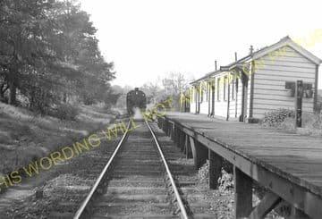 Morcott Railway Station Photo. Luffenham - Seaton. Market Harborough Line. (10)