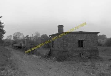 Morcott Railway Station Photo. Luffenham - Seaton. Market Harborough Line. (6)