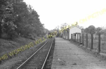Morcott Railway Station Photo. Luffenham - Seaton. Market Harborough Line. (9)