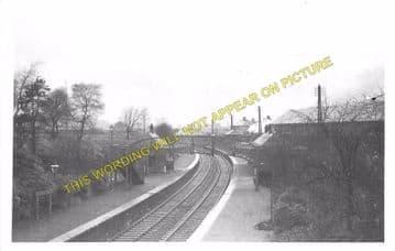Neilston High Railway Station Photo. Uplawmoor - Netherton. Caledonian Rly. (2)